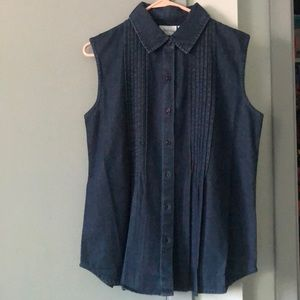 New! Denim top from Vermont Country Store